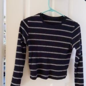 Brandy Melville Blue Striped Sweater